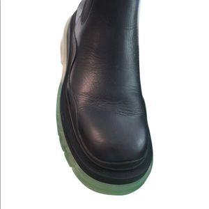 Bottega Veneta - Tire Leather Ankle Boots